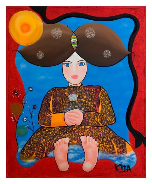 ❝ Mademoiselle Adélaïde ❞ Huile sur toile 100 x 80 cm